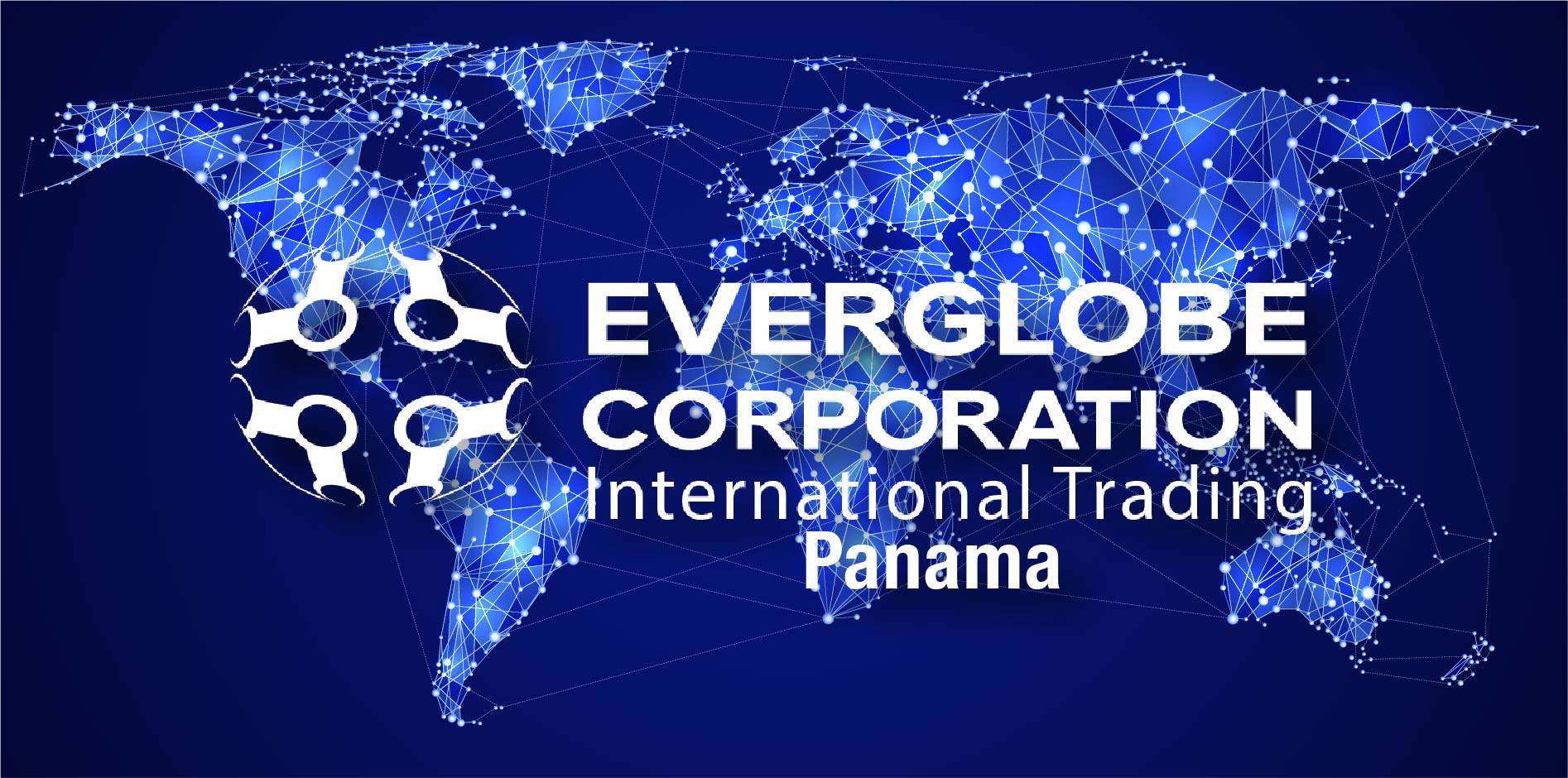 The map of the world with the Everglobe Corp Panama logo.